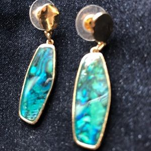 Jewelry - Albalone with gold post earring